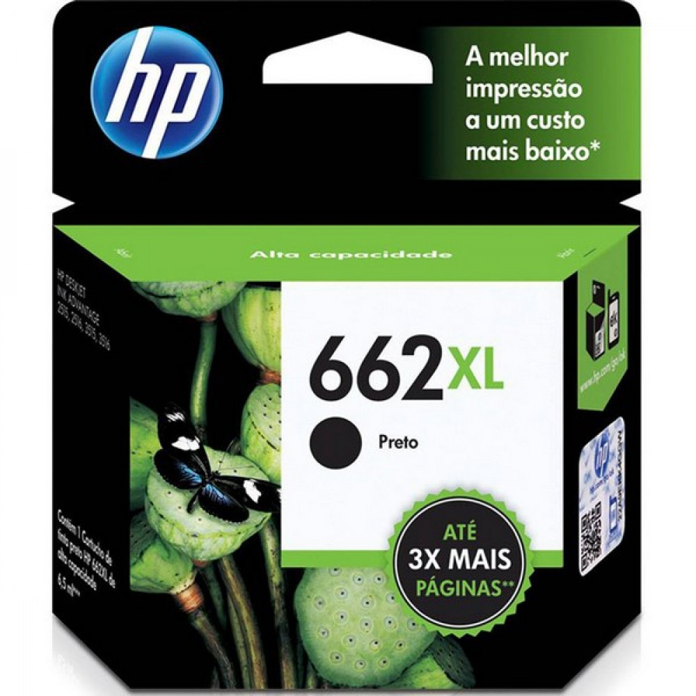 CARTUCHO HP 662XL PRETO P.N.: CZ105AB
