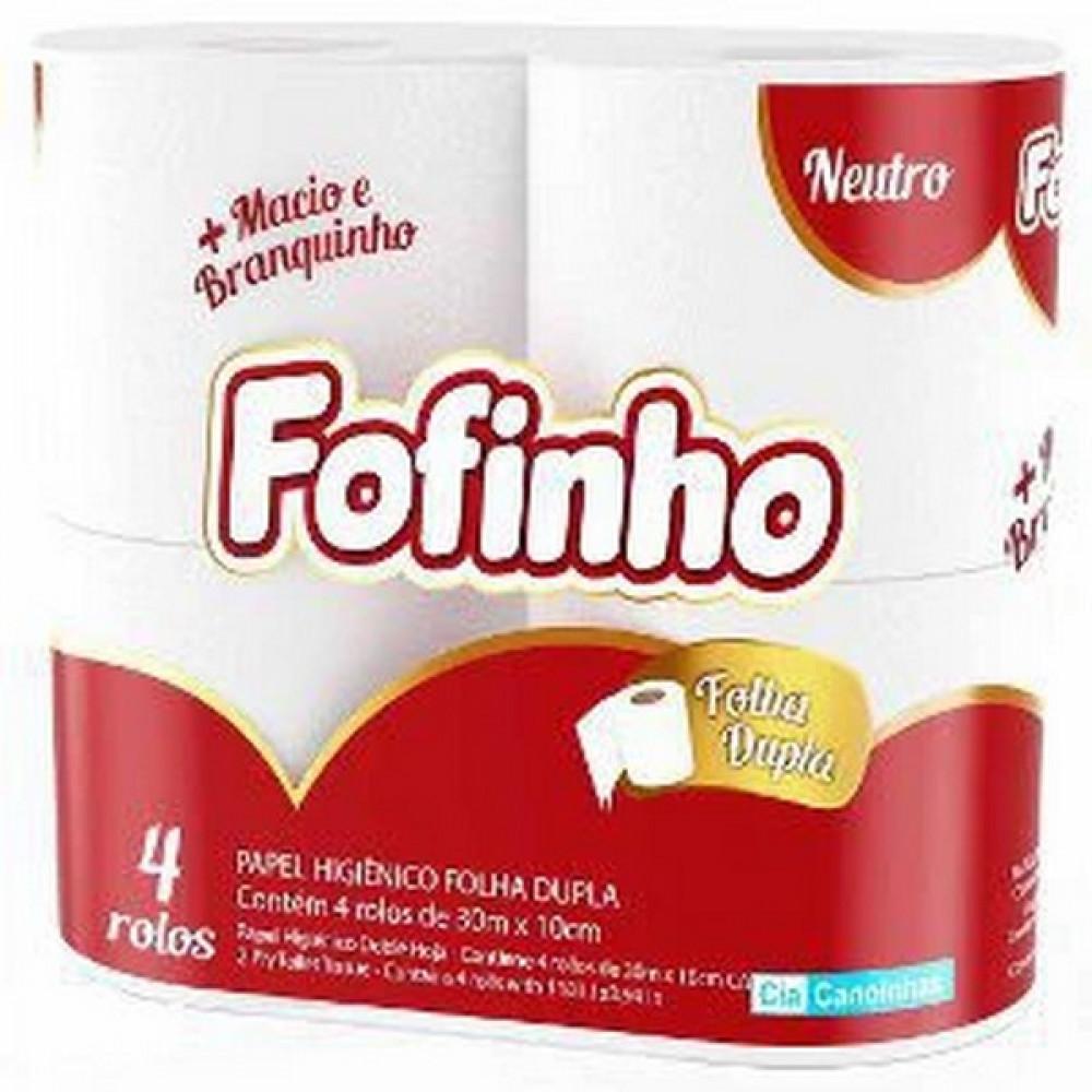 PAPEL HIGIENICO FOFINHO FL DUPLA 30M (PT C/4 RL)
