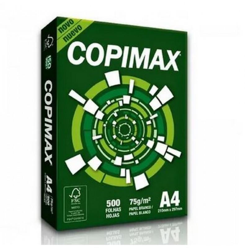 PAPEL SULFITE A4 210X297 75G BR NOVO COPIMAX (PT C/500 FL)