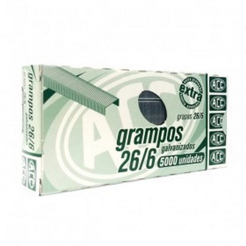 GRAMPO 26/6 GALVANIZADO 1321 (CX C/1000 UN)
