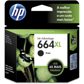CARTUCHO HP 664XL F6V31AB PRETO
