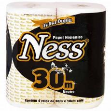 PAPEL HIGIENICO NESS FL DUPL 30M (PT C/4 UN)